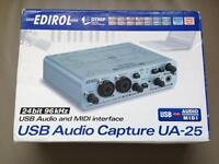 Edirol UA-25 Roland Audio Interface Sound Card PC Mac MIDI USB Boxed
