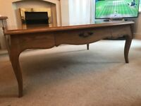Solid oak Laura Ashley large coffee table