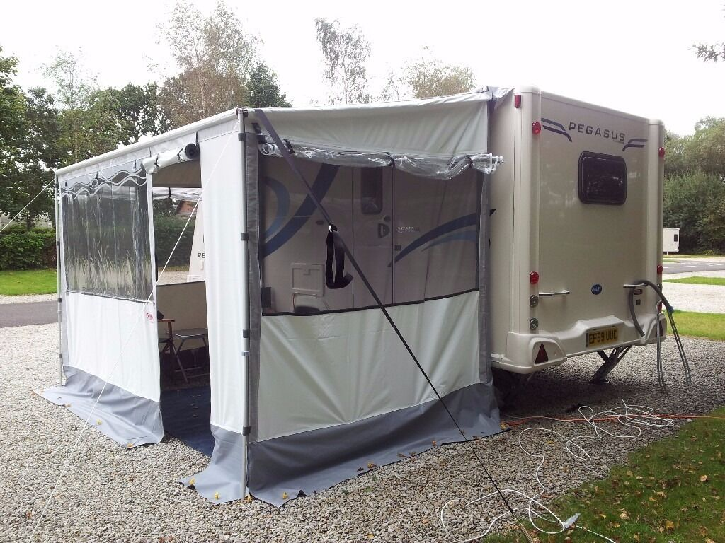 Fiamma Zip Up Caravan Full Awning Canopy And Panels 36m Long
