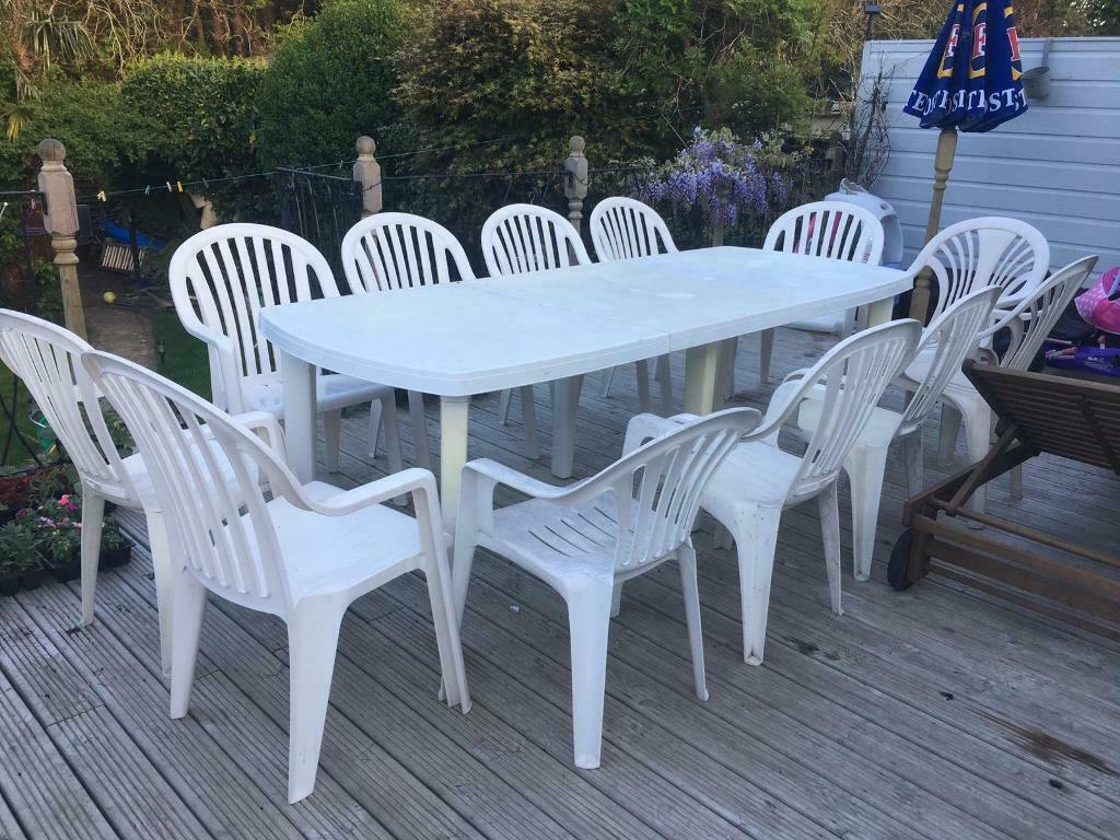 Pleasing Extendable 12 Seater Garden Table Chairs In Bournemouth Dorset Gumtree Download Free Architecture Designs Terstmadebymaigaardcom