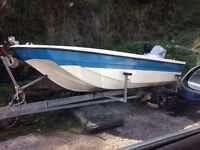 14ft Dory boat with 40hp Suzuki engine