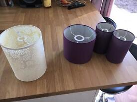 Selection of lampshades