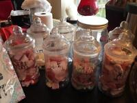 Sweets and jars for candy bar