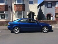 54 reg Mazda 6 in stunning blue ideal family car ,px welcome