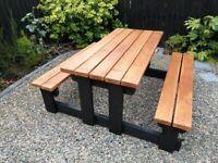 Picnic Table Pub Bench