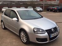 VW GOLF 2.0 TDI GT SPORT DIESEL,HPI CLEAR,2 OWNER,CAMBELT CHANGE,LEATHER HEATED,2 KEY,A/C,ALOY,TINTD