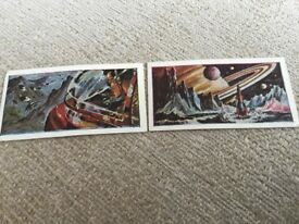 BARRATT SWEET CARDS. SPACE MYSTERIES X 2