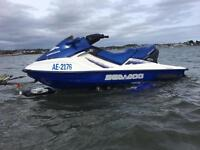 Seadoo GTX 4tec 1500cc 155bhp jet ski roller trailer