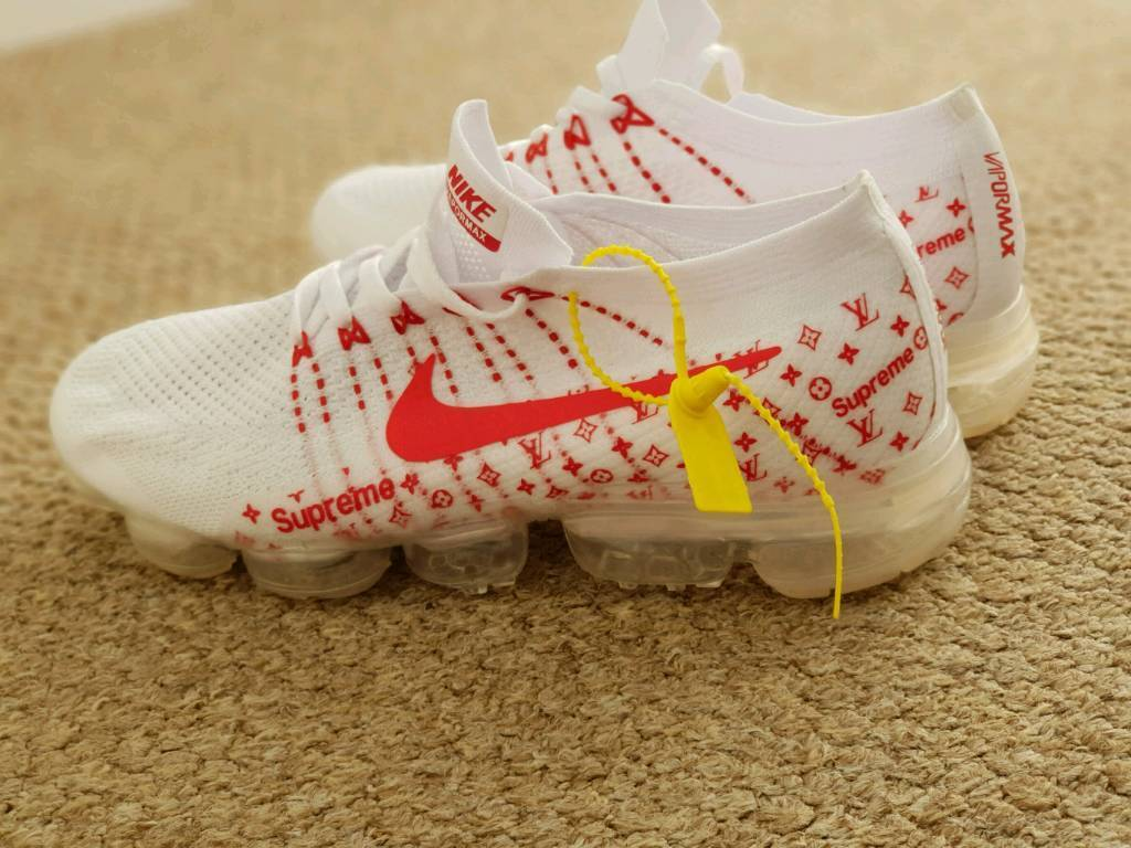 Nike vapormax supreme trainers custom Louis Vuitton size 9 | in Oadby, Leicestershire | Gumtree