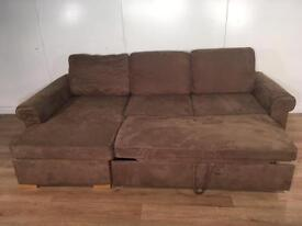 John Lewis Brown corner sofa bed with free delivery within 10 miles
