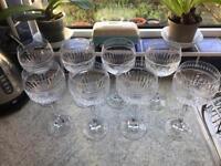 8 Beautiful Crystal Gin Bowls/ Wine Glasses Gatsby