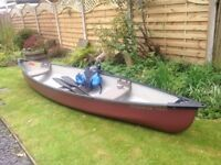 Very good condition - 3 seater Potomac 14.6ft Canadian canoe with 2 paddles