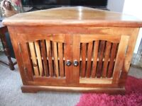 TV Unit Cabinet - Indian Hardwood - Vgc.