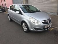 2007 Diesel 6 speed Vauxhall corsa 1.3Cdti 90ps with half leather ,long mot ,low tax px welcome