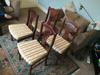 Dining Room Chairs Four Mahogany Good condition