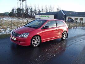 2005 FACELIFT HONDA CIVIC 1.6 SPORT TYPE R REP NEW MOT FSH 74K SMART CAR