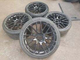 """20"""" Staggered Alloy Wheels with Michelin Tyres for C63 AMG with Wheel-Spacers"""