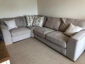 Corner Sofa - stone - 3 years old, immaculate condition