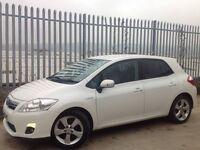 2010 TOYOTA AURIS T SPIRIT 1.8 HYBRID 5 DOORS HATCH BACK AUTO WHITE ++ LOW MILEAGE!!! ++