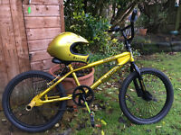 """Bullion Silverfox"" BMX bike with matching helmet. Good condition."