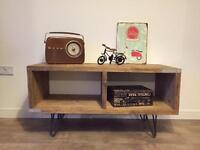 Unique industrial style hand made tv cabinet, media unit- different size upon request