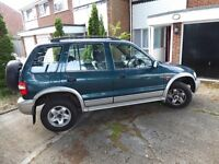 Kia Sportage 1999, MOT June 2018, 4x4, large space, starts every time