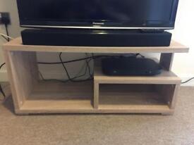 Light Wood TV Stand.