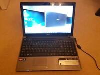 "Acer Aspire 5553 laptop 15"" 3gb ram 320 Gb hdd"