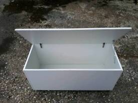 Wbite bedroom storage box, delivery available