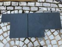 Slate from fireplace hearth