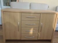 Sideboard in light coloured wood very good condition