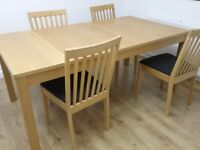 Ikea extendable dining room table and chairs