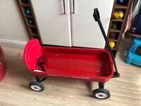 Children's iconic Radio Flyer cart