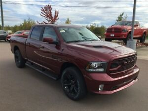 2018 Ram 1500 Sport  4X4 CREW CAB FULL LEATHER, $159 Weekly