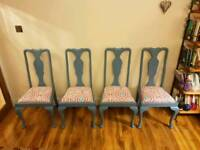 Antique dining chairs upcycled vintage