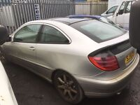 Mercedes Benz C Class Petrol 2001 year Parts engine turbo injector gearbox light radiator