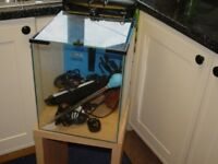 Aquael Marine aquarium and stand plus accessories