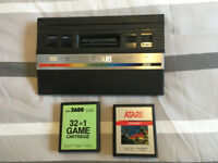 Atari 2600 system with two cartridges