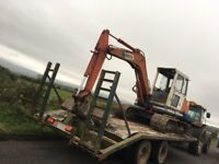 Digger low loader trailer