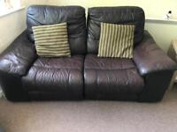 FREE - Leather Recliners - 2 seater & 2 Chairs