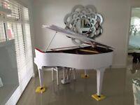BRAND NEW TESORO NERO WHITE BABY GRAND PIANO