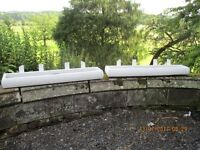 2 LARGE WOODEN GARDEN PLANTER TROUGH PAINTED IN WHITE