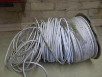 Roll of telephone cable.