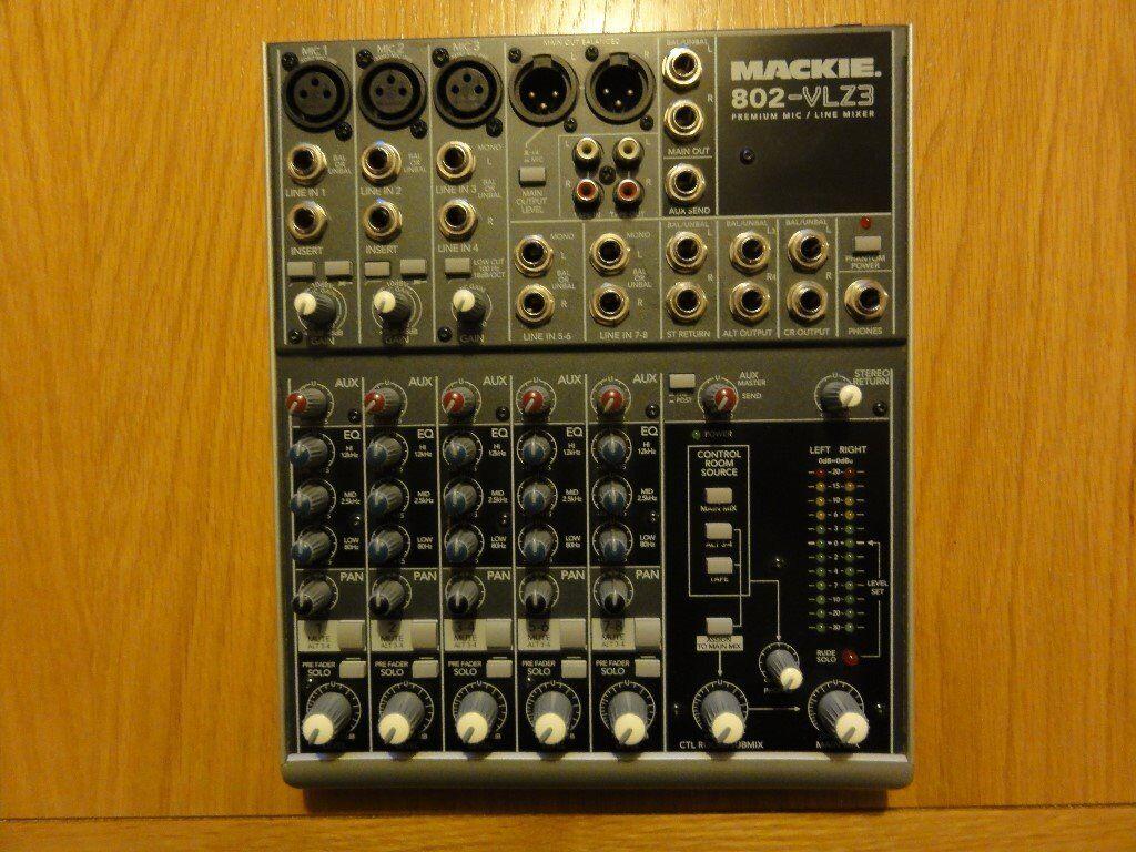 MACKIE MIXER 802 VLZ 8 Channel Premium Mic Line Mixer