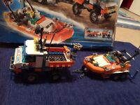Lego city coast guard truck with speed boat 7726