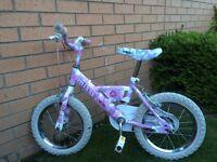 """Raleigh Miss Mini Kids Girls Bike - 14"""" wheels"""