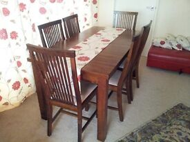 Dinning table & 6x chairs + Coffee table