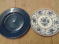 4 Dinner, 2 Bread Plates, 3 Soup Bowls - different designs