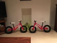2 x Hoy Napier balance bikes - great condition.