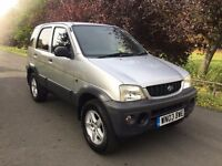4 x 4 DAIHATSU TERIOS 1.6 Petrol with 1 years MOT & Full Service History. Absolute BARGAIN!